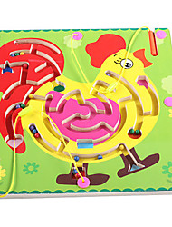 cheap -Chess Game Maze Magnetic Maze Chicken Magnetic Wooden Iron Kid's Toy Gift 1 pcs