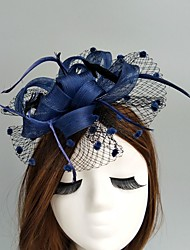 cheap -Flax / Net Fascinators / Hats / Birdcage Veils with 1 Wedding / Special Occasion / Horse Race Headpiece