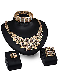 cheap -Women's Pendant Necklace Ladies Personalized Fashion Rhinestone Gold Plated Earrings Jewelry Gold For Party Evening Party