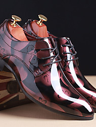 cheap -Men's Formal Shoes TPU Spring / Fall Oxfords Brown / Red / Blue / Wedding / Printed Oxfords / EU40