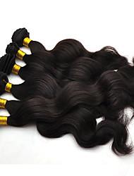 cheap -Brazilian Hair Body Wave Human Hair Natural Color Hair Weaves / Hair Bulk Human Hair Weaves Hot Sale Human Hair Extensions