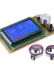 cheap -12864 LCD Smart Display Screen Controller Module with Cable for RAMPS 1.4 Arduino Mega Pololu Shield Arduino Reprap 3D Printer Kit Accessory
