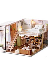 abordables -Kit de Maquette A Faire Soi-Même Meuble Maison En bois Classique Enfant Fille Jouet Cadeau