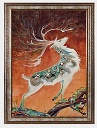 cheap -Landscape Vintage Leisure Framed Oil Painting Wall Art,PS Material With Frame For Home Decoration Frame Art Living Room Dining Room