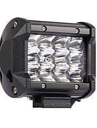 Недорогие -10шт 36w 3600lm 6000k 3-рядные светодиодные светильники для работы с холодным белым пятном внедорожника для автомобиля / лодки / фары ip68
