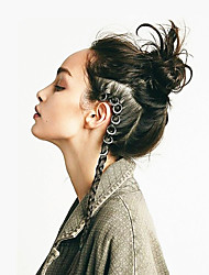 cheap -Wig Accessories Metal Braiding Beads Daily Classic Silver Golden