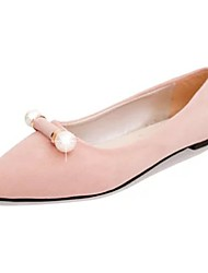 cheap -Women's Flats Flat Heel Pointed Toe PU Light Soles Spring Pink / Blue / Black
