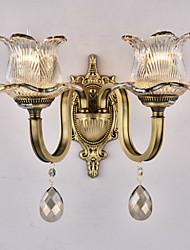 cheap -QINGMING® Rustic / Lodge Wall Lamps & Sconces Metal Wall Light 110-120V / 220-240V 60 W / E12 / E14