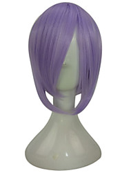 cheap -synthetic high temperature fiber hair short straight purple blue cosplay party costume wig Halloween