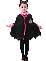 cheap -Witch Cosplay Cloak Kid's Girls' Halloween Carnival Children's Day Festival / Holiday Elastane Tactel Carnival Costumes Vintage