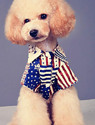 cheap -Dog Shirt / T-Shirt Dog Clothes Casual/Daily American/USA