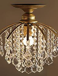 cheap -1-Light 28 cm Crystal Flush Mount Lights Metal Painted Finishes Country 110-120V / 220-240V