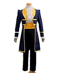 cheap -Prince Fairytale Prince Charming Coat Cosplay Costume Men's Christmas Halloween Carnival Festival / Holiday Yellow+Blue Men's Women's Carnival Costumes Solid Colored