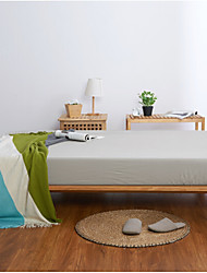 cheap -Flat Sheet - Poly / Cotton Printed Solid Colored 1pc Flat Sheet / 2pcs Pillowcases