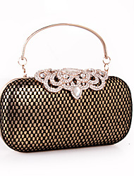 cheap -Women's Bags leatherette Clutch Rhinestone Lace Plaid for Wedding / Party / Event / Party Gold / Silver