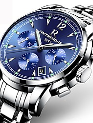 cheap -Men's Sport Watch Quartz Stainless Steel Silver / Gold Water Resistant / Waterproof Calendar / date / day Creative Analog Charm Luxury Classic Casual Fashion - Silver Blue Black / Silver Two Years