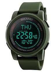 cheap -SKMEI Men's Sport Watch Military Watch Wrist Watch Japanese Digital Silicone Black / Green 50 m Water Resistant / Waterproof Alarm Calendar / date / day Digital Casual Fashion - Black Green Two Years