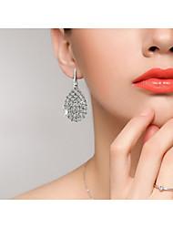 Недорогие -Жен. Синтетический алмаз Серьги-слезки В форме листа Свисающие Дамы На заказ Роскошь Классика Мода Искусственный бриллиант Серьги Бижутерия Белый Назначение