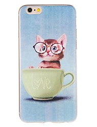 cheap -Case For Apple iPhone 7 Plus / iPhone 7 / iPhone 6s Plus Pattern Back Cover Cat Soft TPU