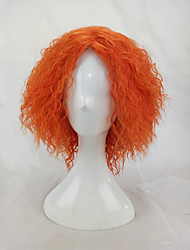 cheap -afro kinky curly wig synthetic hair woman medium length orange cosplay wigs high temperature fiber Halloween