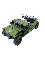 cheap -Remote Control RC Building Block Kit Toy Car Building Blocks Construction Set Toys Educational Toy Tank Fighter Aircraft Remote Control / RC DIY Boys' Girls' Toy Gift