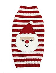 cheap -Cat Dog Coat Sweater Winter Dog Clothes Red Costume Spandex Cotton / Linen Blend Cartoon Party Cosplay Casual / Daily XXS XS S M L XL