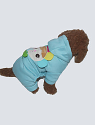 cheap -Dog Hoodie Dog Clothes Casual/Daily Cartoon Blushing Pink Blue Yellow