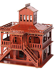 cheap -3D Puzzle Jigsaw Puzzle Famous buildings House Wooden Natural Wood Unisex Toy Gift