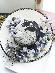 cheap -Chiffon / Lace / Fabric Fascinators / Hats with 1 Wedding / Special Occasion / Birthday Headpiece