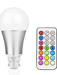 cheap -1pc 12 W LED Smart Bulbs 800 lm B22 E26 / E27 A60(A19) 1 LED Beads Integrate LED Dimmable Remote-Controlled Decorative RGBW RGBWW 85-265 V / 1 pc / RoHS