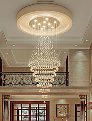 cheap -10-Light 70 cm Crystal Bulb Included Chandelier Metal Electroplated Chic & Modern 110-120V 220-240V