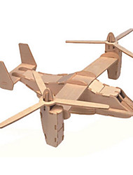 cheap -3D Puzzle Jigsaw Puzzle Wooden Model Tank Plane / Aircraft Fighter Aircraft Wooden Natural Wood Kid's Unisex Toy Gift
