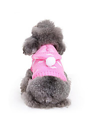 cheap -Dog Sweater Hoodie Dog Clothes Heart Cotton Costume For Spring &  Fall Winter Men's Women's Casual / Daily
