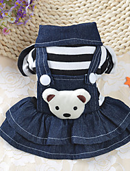 cheap -Dog Dress Winter Dog Clothes Costume Cotton Stripes Casual / Daily