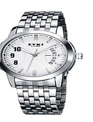 cheap -Men's Fashion Watch Quartz Stainless Steel Band Silver