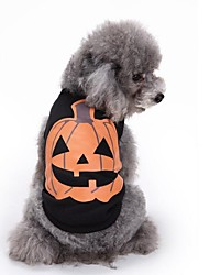 cheap -Cat Dog Sweatshirt Christmas Dog Clothes Black Halloween Costume Cotton Pumpkin Party Casual / Daily S M L