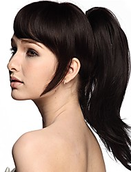 cheap -Ponytails / Hair Piece Synthetic Hair Hair Piece Hair Extension Natural Wave
