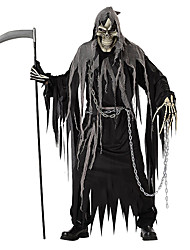 cheap -Skeleton / Skull Cosplay Grim Reaper Cosplay Costume Halloween Props Adults' Men's Halloween Halloween Carnival Day of the Dead Festival / Holiday Polyster Black Men's Women's Carnival Costumes Solid