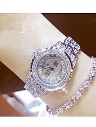 cheap -Women's Simulated Diamond Watch Pave Watch Quartz Sparkle Analog Gold Silver