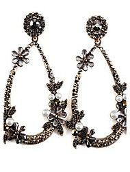 cheap -Women's Drop Flower Vintage Fashion Oversized Earrings Jewelry Black / Yellow For Stage Formal Going out
