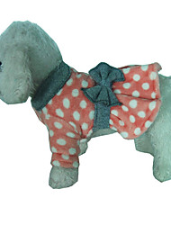 cheap -Dog Dress Polka Dot Casual / Daily Winter Dog Clothes Red Green Costume Cotton