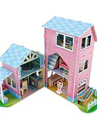 abordables -Puzzles 3D Puzzle Maison de Poupées Bâtiment Célèbre Bois Naturel Enfant Unisexe Jouet Cadeau