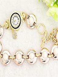Недорогие -Жен. Модные часы Кварцевый сплав Группа Черный Белый