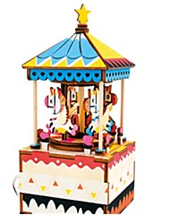cheap -Music Box Jigsaw Puzzle Horse Carousel Unique Wooden Women's Unisex Girls' Kid's Adults Kids Graduation Gifts Toy Gift