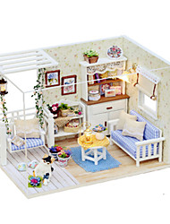 cheap -Model Building Kit DIY Famous buildings Furniture House Wooden Wood Kid's Women's Toy Gift