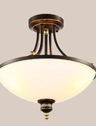 cheap -3-Light 45 cm Eye Protection Flush Mount Lights Metal Glass Inverted Painted Finishes 110-120V 220-240V / E26 / E27