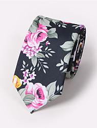 cheap -Men's Neckwear Necktie - Floral Print