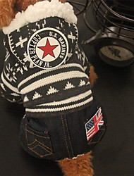 cheap -Dog Jumpsuit American / USA Casual / Daily Winter Dog Clothes Red Coffee Costume Cotton