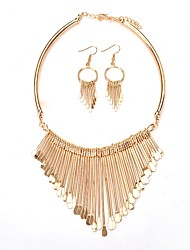 cheap -Women's Drop Earrings Harness Necklace Statement Fashion Earrings Jewelry Gold For Ceremony Evening Party