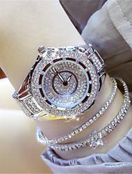 cheap -Women's Simulated Diamond Watch Quartz Alloy Band Sparkle Silver Gold Rose Gold